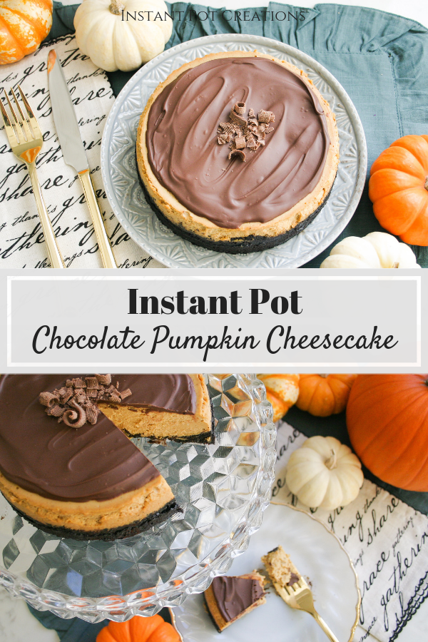 Instant Pot Chocolate Pumpkin Cheesecake