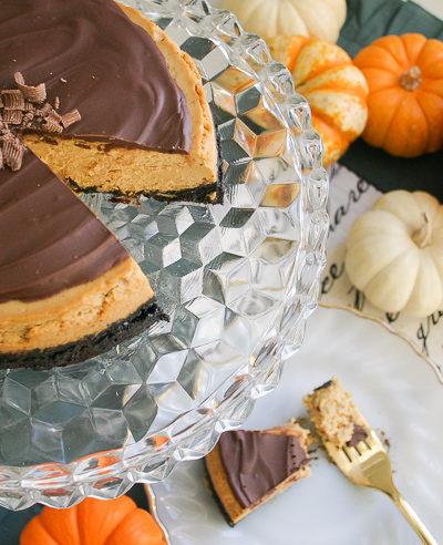 Instant Pot Chocolate Pumpkin Cheesecake