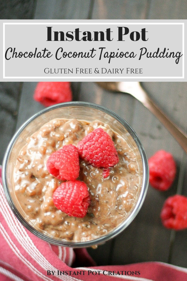 Instant Pot Chocolate Coconut Tapioca Pudding