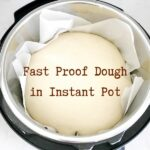 Fast rising dough in Instant Pot with text overlay