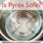 Pyrex glass bowl inside Instant Pot with text overlay