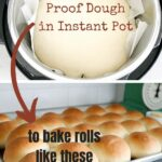 Instant Pot dough to homemade rolls with text overlay