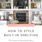 built-in shelving with fireplace