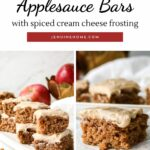 applesauce bars with text overlay