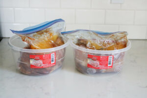 Freezer meal storage container from Dollar Tree
