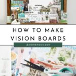 Vision board with text overlay