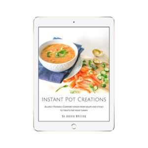 Instant Pot Creations Ebook in a white ipad