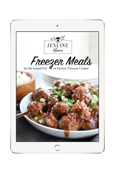 Instant Pot Freezer meal ebook ipad