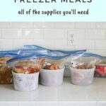Instant Pot freezer meal prep containers on a counter