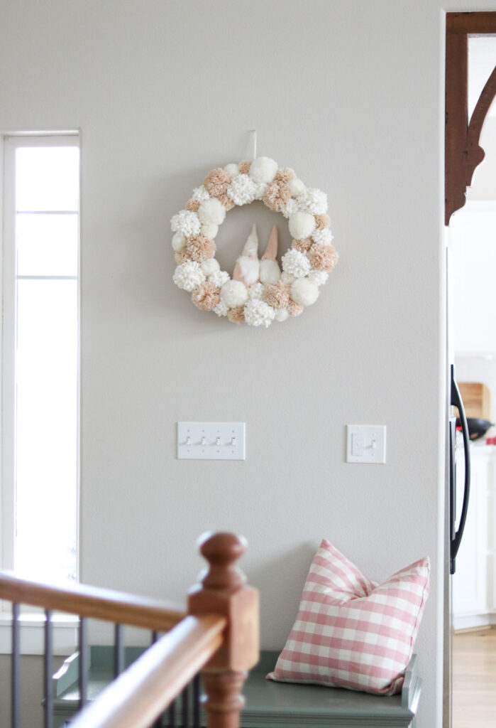 Gnome wreath on wall