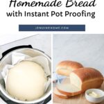 Instant Pot dough proof and bread loaf