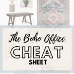Boho Office Cheat Sheet Pin