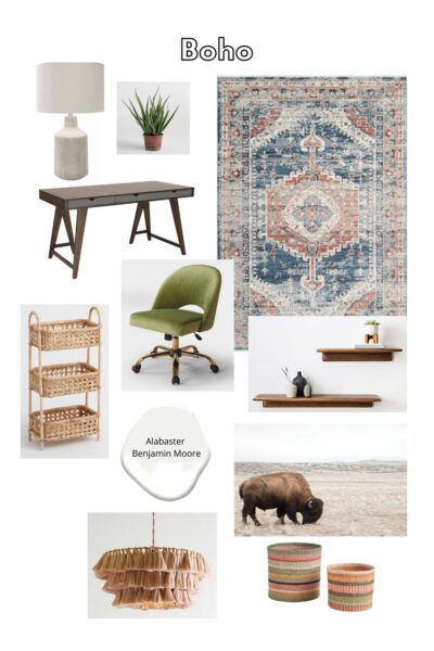 Boho inspired furniture for home office