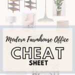 Modern Farmhouse cheat sheet pin