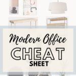 Modern Home Office cheat sheet pin