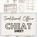 Tradional home office cheat sheet pin