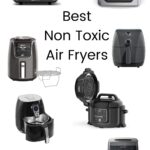 air fryer models from various brands with text overlay