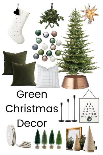 throw pillows and christmas home decor with text overlay