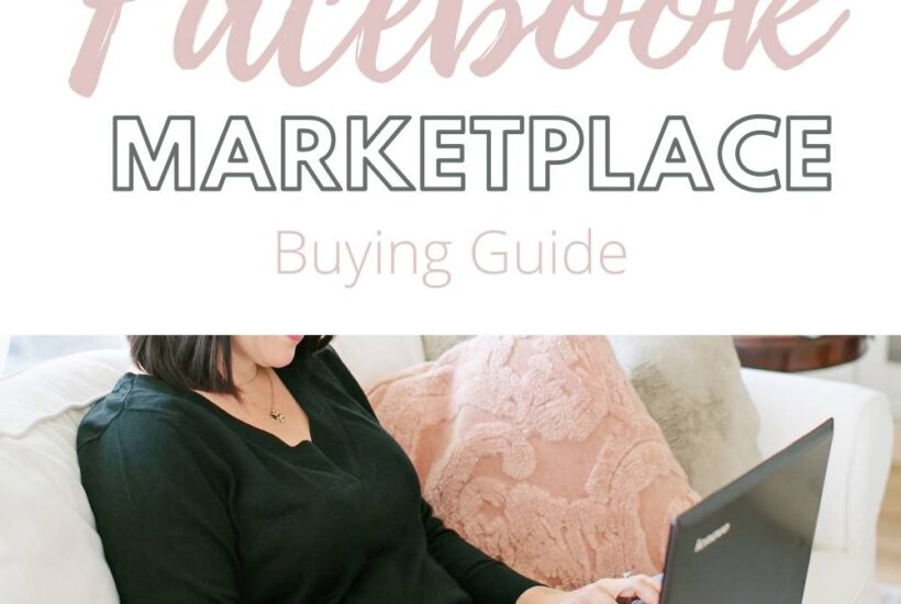 facebook marketplace buying guide image with woman searching on a laptop